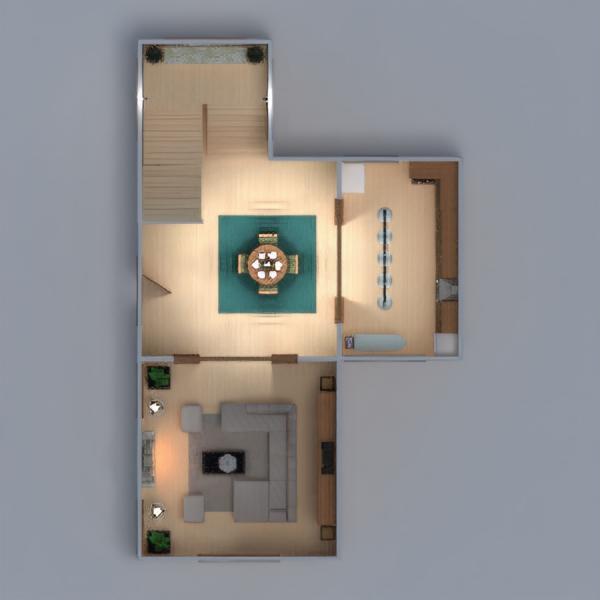 floorplans casa dormitorio comedor arquitectura 3d