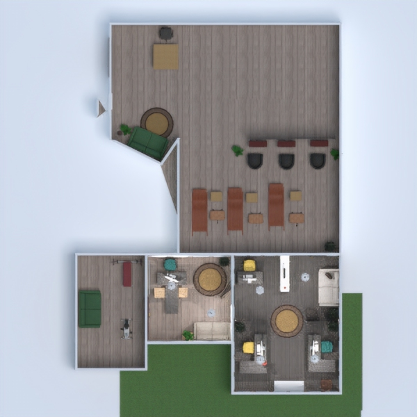 floorplans muebles decoración despacho 3d