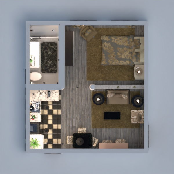 floorplans decor kitchen studio 3d