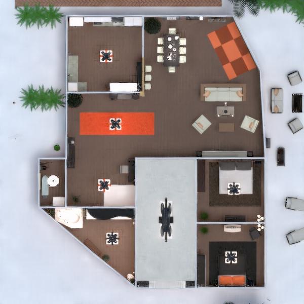 floorplans дом терраса ванная спальня гостиная кухня улица освещение ландшафтный дизайн столовая архитектура прихожая 3d