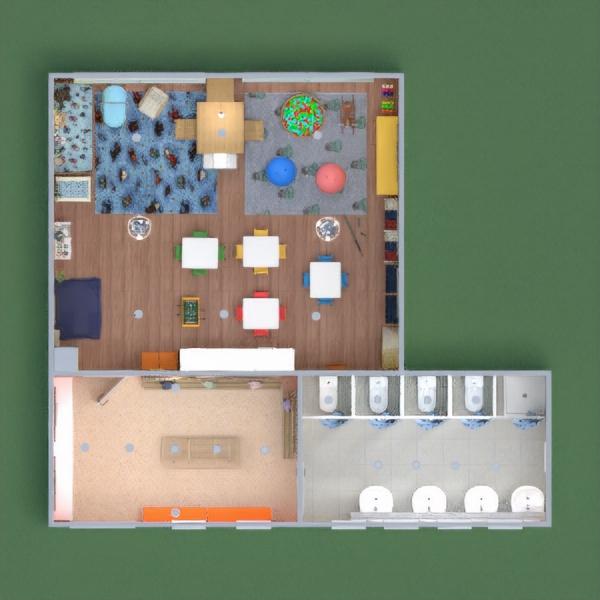 floorplans meubles salle de bains chambre d'enfant 3d