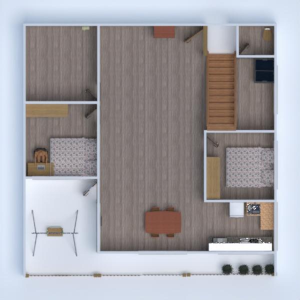 floorplans casa terraza cuarto de baño dormitorio salón 3d