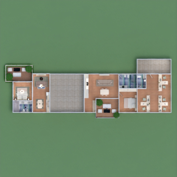 floorplans apartment bedroom living room kitchen outdoor office architecture studio 3d