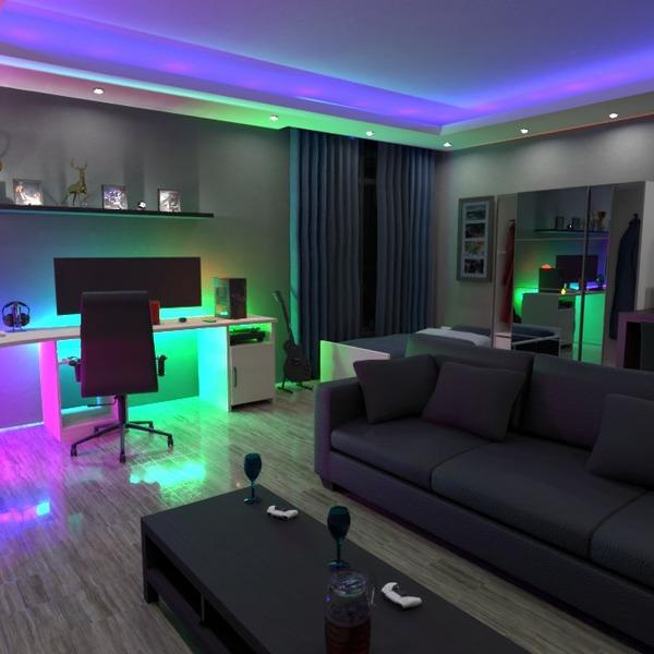 floorplans maison décoration chambre à coucher salon eclairage 3d