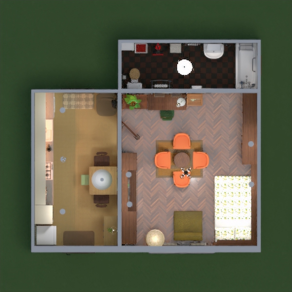 floorplans appartement cuisine rénovation studio 3d