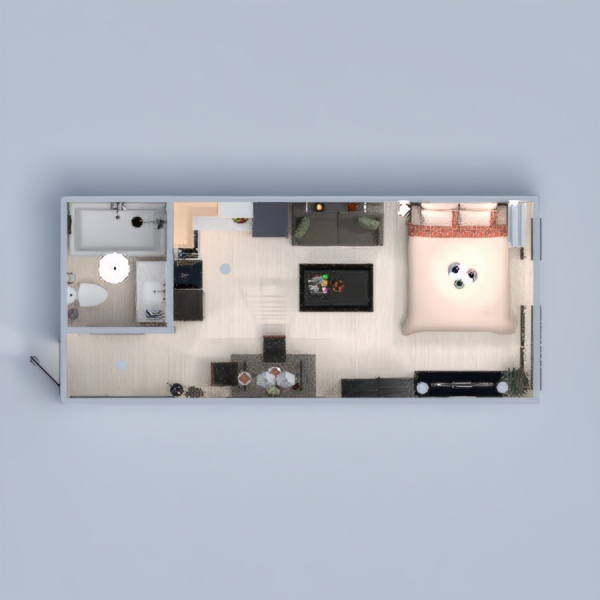 floorplans apartment decor bedroom living room kitchen lighting dining room studio 3d
