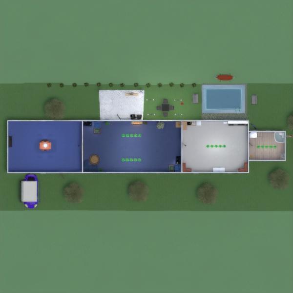 floorplans casa terraza muebles decoración 3d
