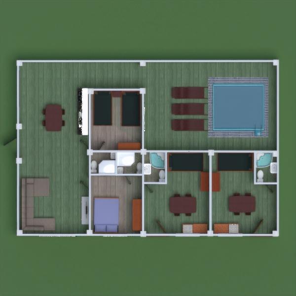 floorplans namas vonia miegamasis virtuvė namų apyvoka 3d