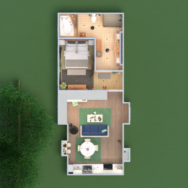 floorplans decor living room kitchen lighting studio 3d