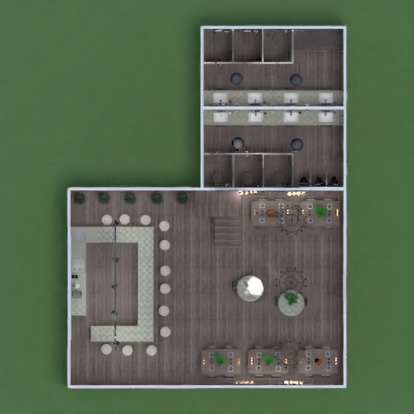 floorplans cuisine café salle à manger architecture entrée 3d