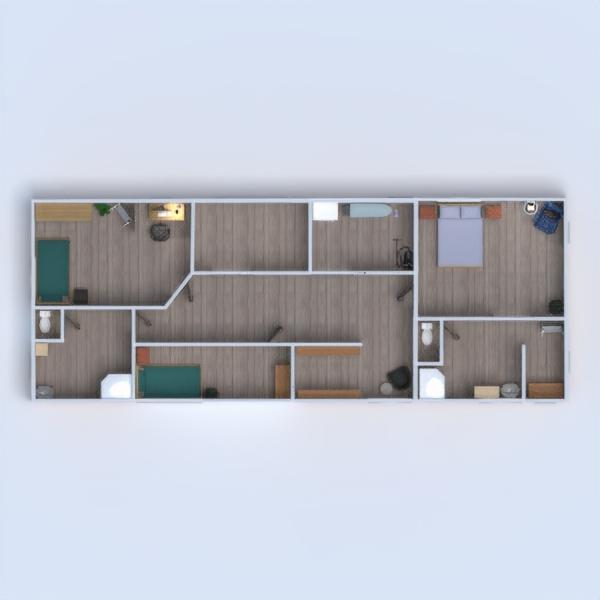 floorplans haus mobiliar garage landschaft lagerraum, abstellraum 3d