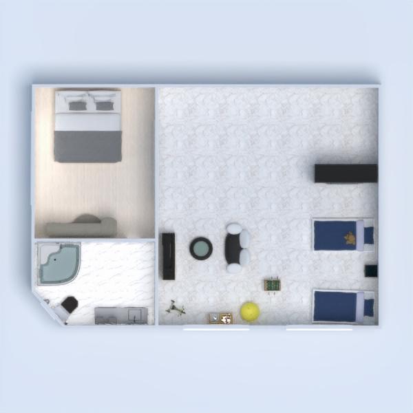 floorplans house terrace furniture decor living room 3d