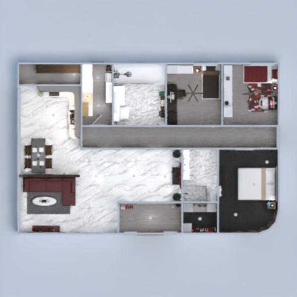 floorplans apartamento casa casa de banho dormitório quarto 3d