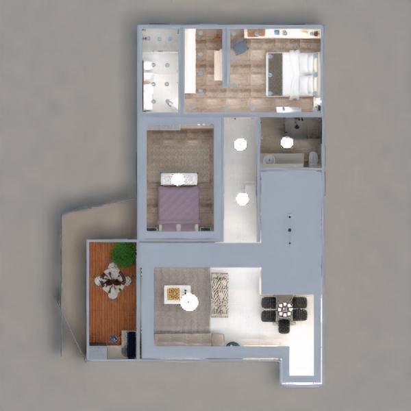 floorplans wohnung dekor schlafzimmer beleuchtung architektur 3d
