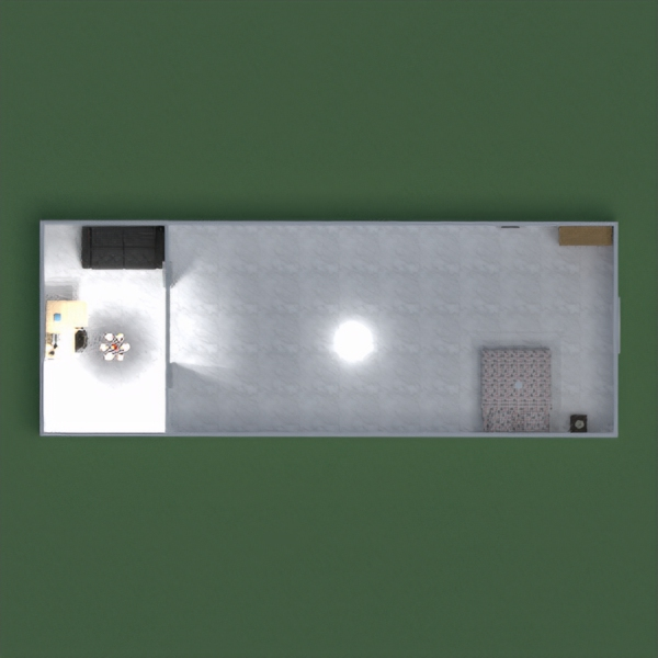 floorplans casa camera da letto saggiorno cucina monolocale 3d