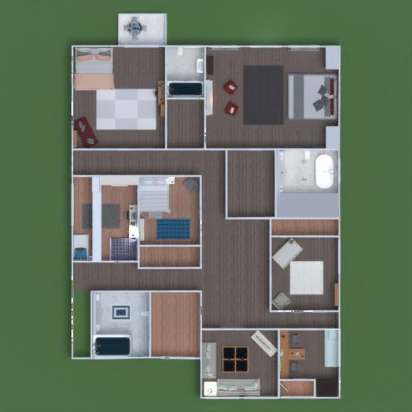 floorplans ванная гостиная кухня улица ландшафтный дизайн столовая 3d