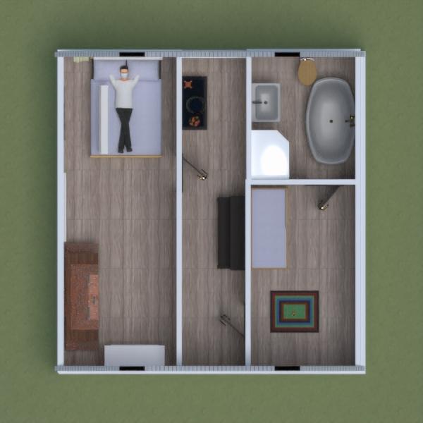 floorplans maison meubles salle de bains chambre à coucher salon 3d