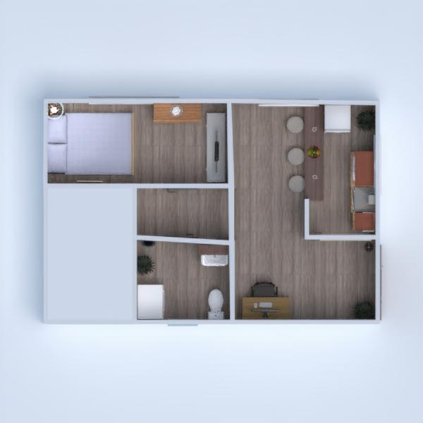 floorplans mieszkanie łazienka sypialnia kuchnia jadalnia 3d
