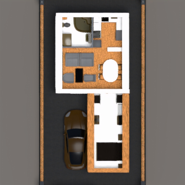 floorplans house garage outdoor architecture 3d