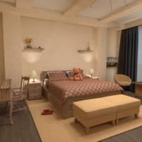 floorplans apartment house bedroom 3d
