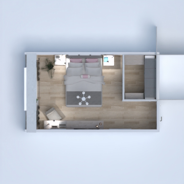 floorplans mieszkanie dom meble wystrój wnętrz sypialnia oświetlenie remont przechowywanie 3d