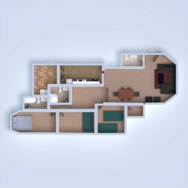floorplans apartment lighting 3d