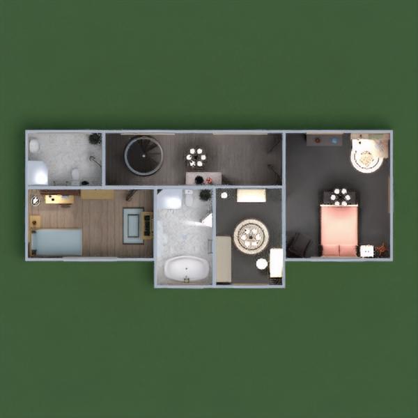 floorplans casa varanda inferior mobílias decoração casa de banho dormitório quarto garagem cozinha área externa utensílios domésticos sala de jantar arquitetura 3d