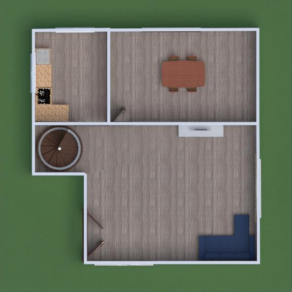 floorplans vaikų kambarys valgomasis аrchitektūra 3d