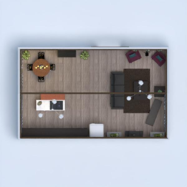 планировки кухня столовая 3d
