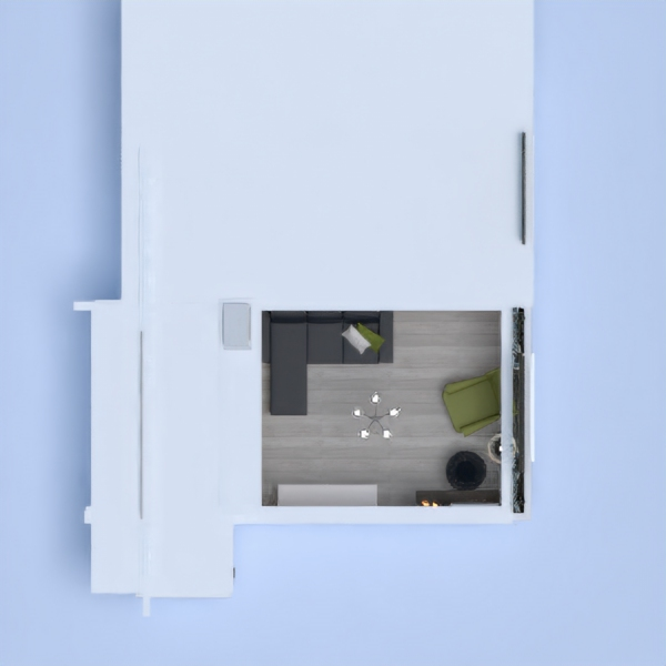 floorplans appartamento saggiorno cucina vano scale 3d