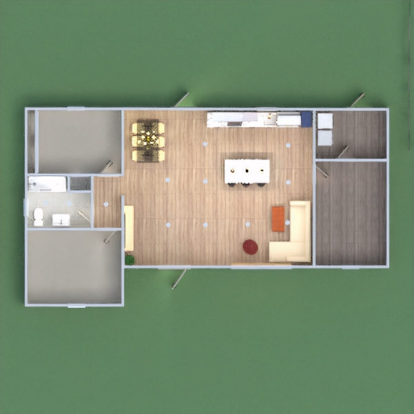 floorplans casa salón cocina 3d