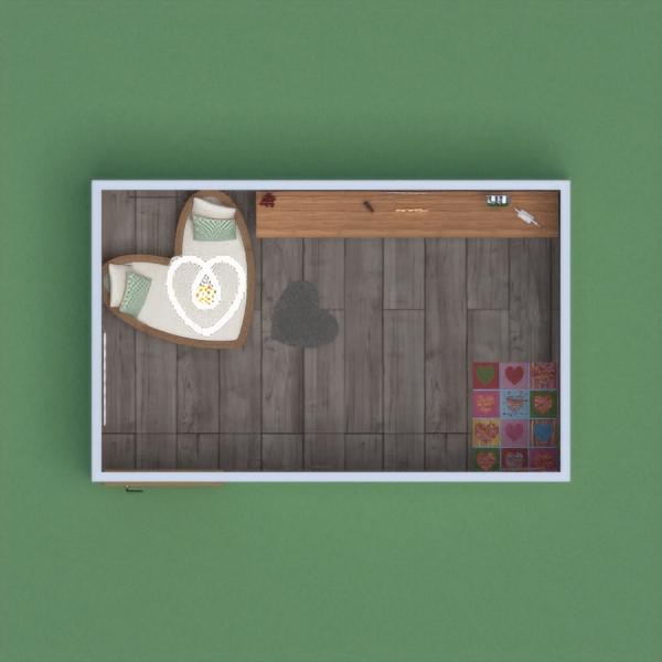 floorplans meble wystrój wnętrz pokój diecięcy oświetlenie mieszkanie typu studio 3d