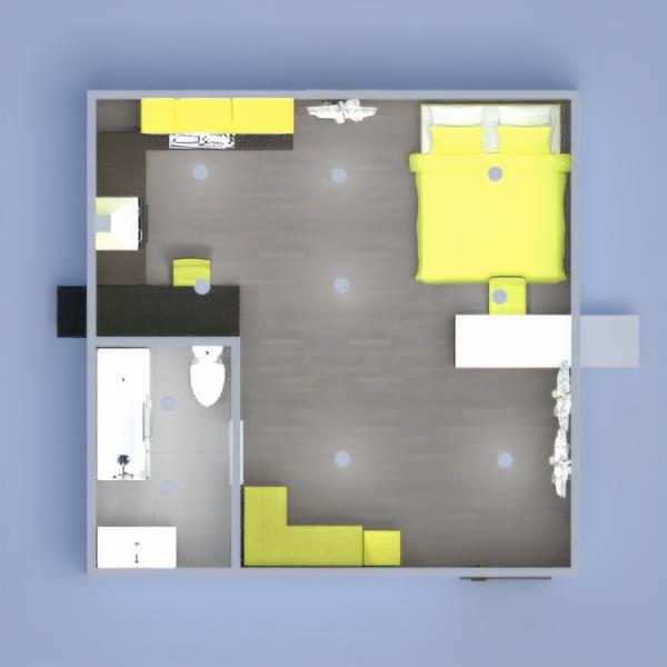 planos decoración cuarto de baño dormitorio comedor estudio 3d