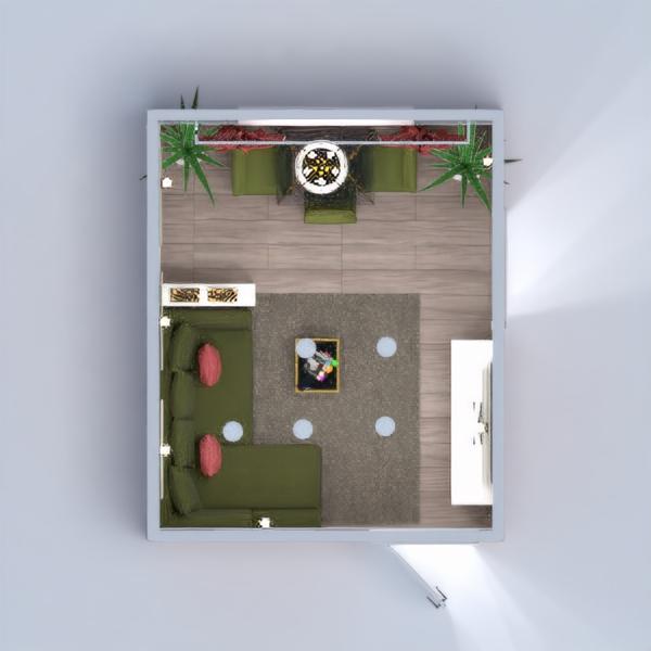 floorplans appartement salon cuisine salle à manger studio 3d