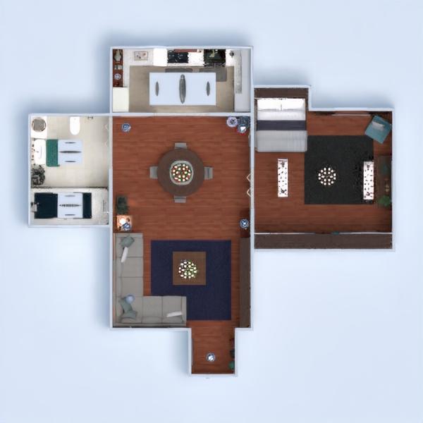 floorplans apartamento mobílias casa de banho dormitório quarto 3d