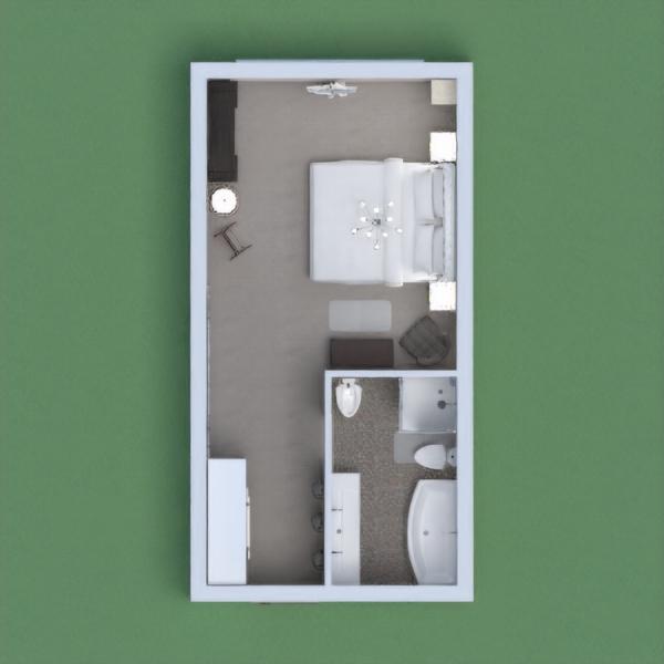 floorplans appartement meubles salle de bains chambre à coucher maison 3d