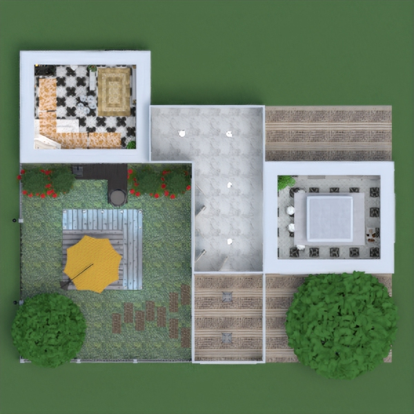 floorplans apartment furniture decor bathroom kitchen outdoor lighting architecture 3d