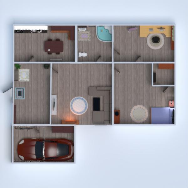 floorplans casa cuarto de baño dormitorio salón garaje cocina comedor 3d
