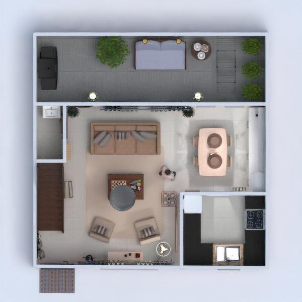 floorplans apartment furniture decor living room lighting 3d