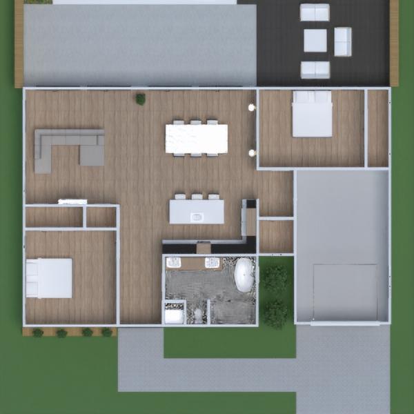 floorplans casa salón cocina exterior reforma 3d