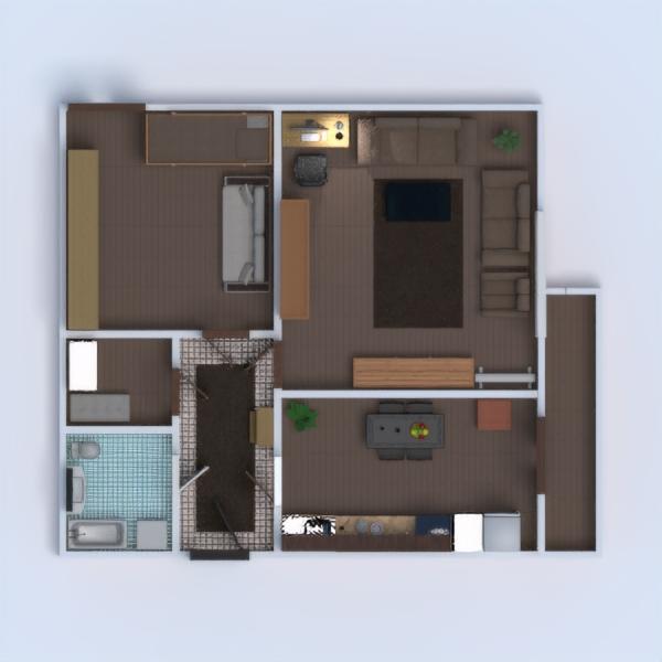 floorplans butas baldai dekoras vonia miegamasis svetainė virtuvė vaikų kambarys apšvietimas namų apyvoka kavinė valgomasis аrchitektūra 3d