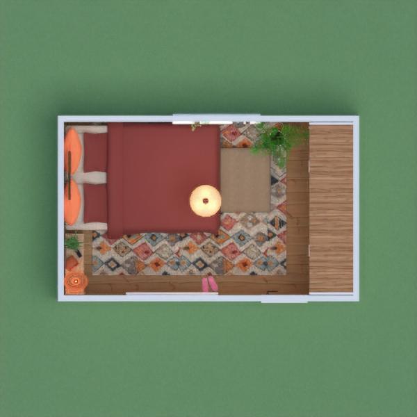 планировки спальня хранение 3d