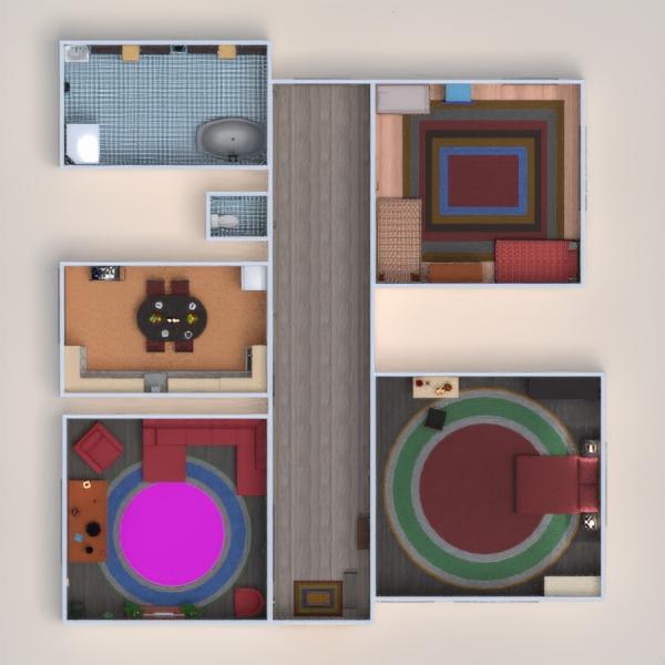 floorplans apartment terrace furniture decor bathroom bedroom living room kitchen renovation landscape storage entryway 3d