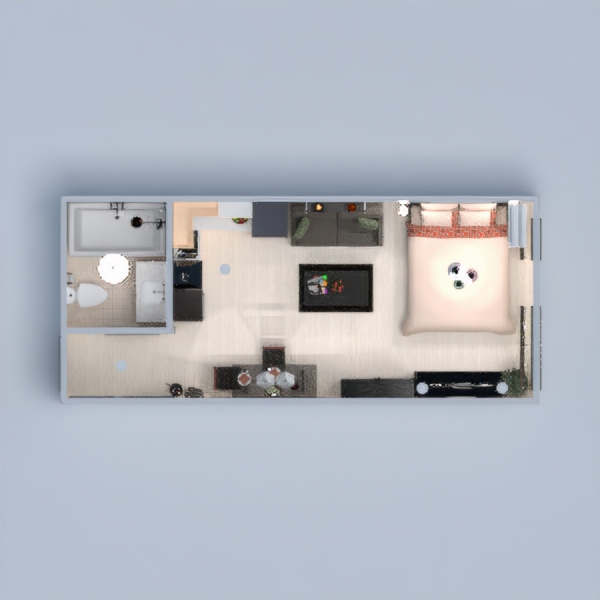 floorplans apartment decor bedroom lighting dining room studio 3d