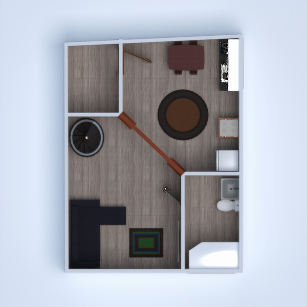 floorplans терраса 3d