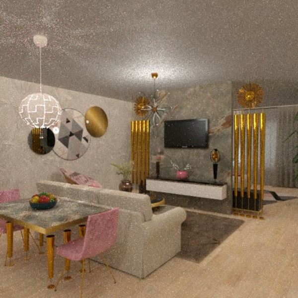 floorplans apartamento varanda inferior mobílias decoração iluminação 3d