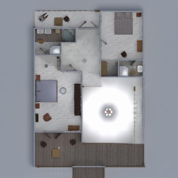 floorplans maison garage extérieur paysage architecture 3d