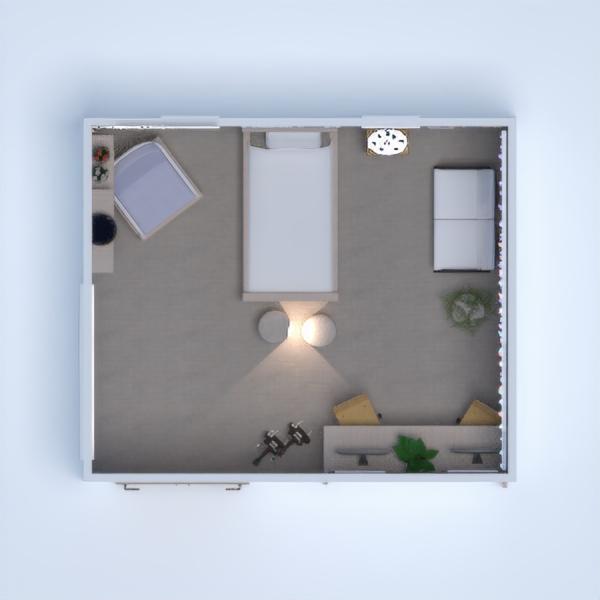 планировки спальня офис 3d
