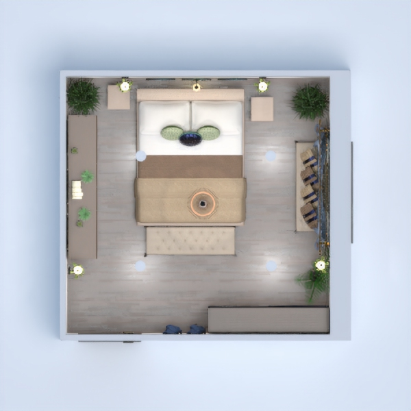floorplans house furniture decor bedroom lighting 3d