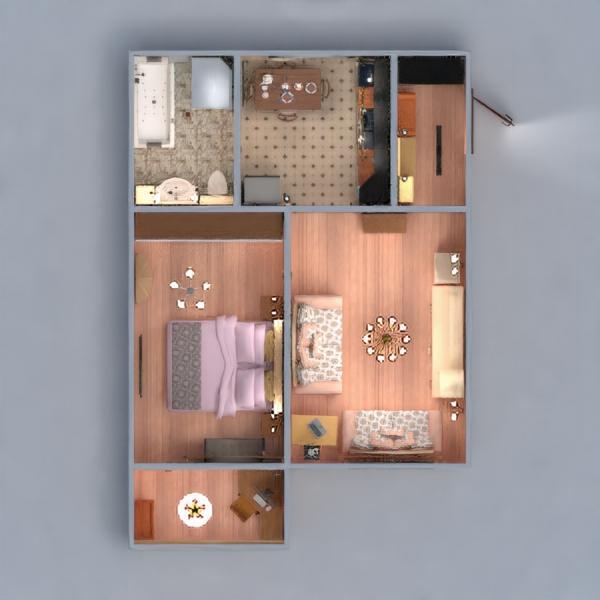 floorplans butas baldai dekoras pasidaryk pats miegamasis svetainė virtuvė namų apyvoka valgomasis sandėliukas prieškambaris 3d